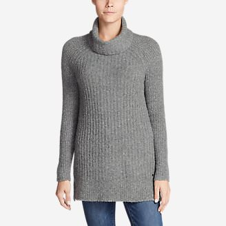 Women's Aurora Turtleneck Sweater in Gray