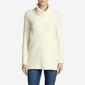 Women's Aurora Turtleneck Sweater in White