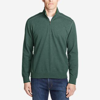 Men's Camp Fleece 1/4-Zip in Green