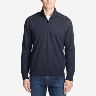 Men's Camp Fleece 1/4-Zip in Blue