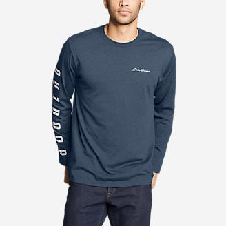 Men's Graphic Long-Sleeve T-Shirt - Outdoor Revival in Blue
