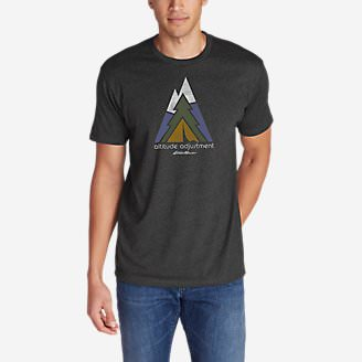 Men's Graphic T-Shirt - Altitude Adjustment in Gray
