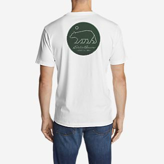 Men's Graphic T-Shirt - Circle Bear in White