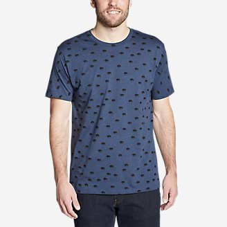 Men's Graphic T-Shirt - Buffalo Roam in Blue