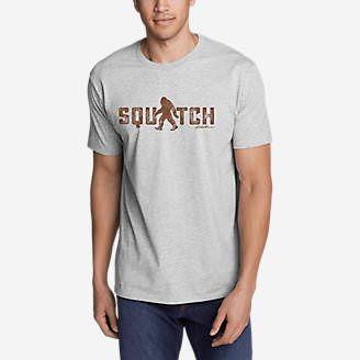 Men's Graphic T-Shirt - Squatch in Gray