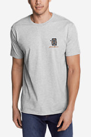 Men's Graphic T-Shirt - Backpacked in Gray