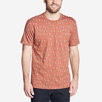 Men's Graphic T-Shirt - Through the Trees in Orange