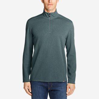 Men's Riverfront Reversible Double-Knit 1/4-Zip in Green