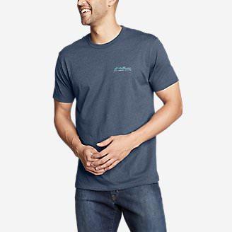 Men's Graphic T-Shirt - Fragment Peak in Blue