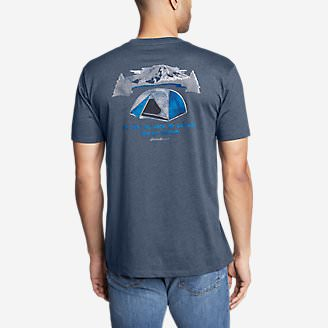 Men's Graphic T-Shirt - My Tent My Snacks in Blue