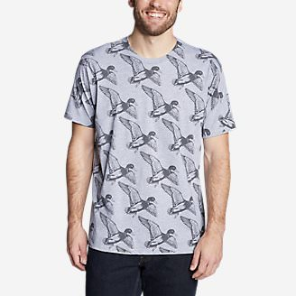Men's Graphic T-Shirt - Take Flight in Gray