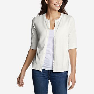 Women's Christine Tranquil Elbow Cardigan in White