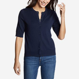 Women's Christine Tranquil Elbow Cardigan in Blue