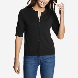 Women's Christine Tranquil Elbow Cardigan in Black