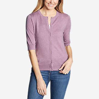 Women's Christine Tranquil Elbow Cardigan in Purple