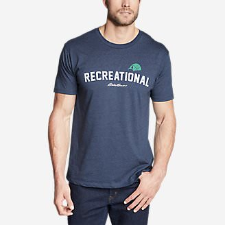 Men's Graphic T-Shirt - Recreational in Blue