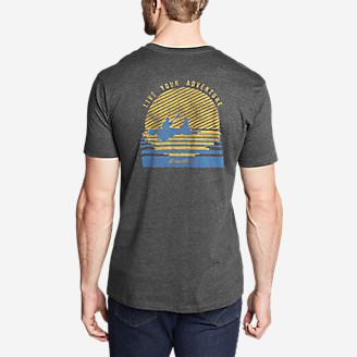 Men's Graphic T-Shirt - Setting Sun in Gray