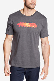 Men's Graphic T-Shirt - Bear Line in Gray
