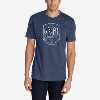 Men's Graphic T-Shirt - Adventure Range in Blue