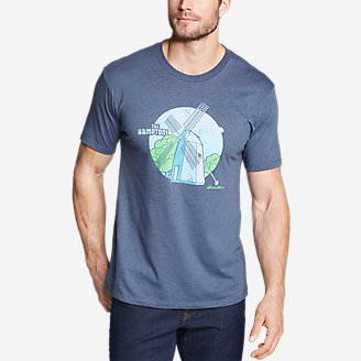 Men's Graphic T-Shirt - Hamptons in Blue