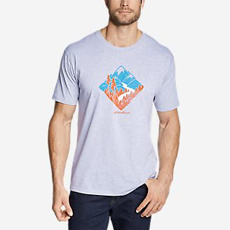 Men's Graphic T-Shirt - Patriot Diamond in Gray