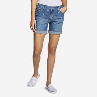 Women's Boyfriend Shorts - Stars in Blue