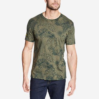Men's Graphic T-Shirt - Please Leaf in Green