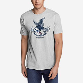 Men's Graphic T-Shirt - Eagle Brew in Gray