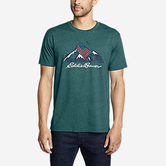 Men's Graphic T-Shirt - Americana Mountain in Green
