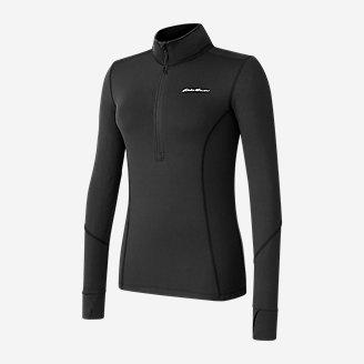 Women's Brushed Baselayer 1/2-Zip in Black