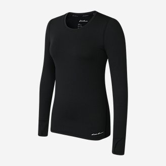 Women's Brushed Baselayer Crew in Black