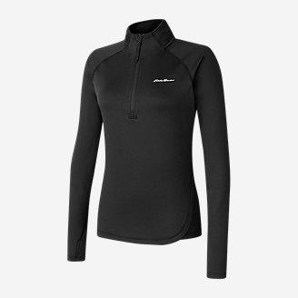 Women's Mini Grid Fleece Baselayer 1/2-Zip in Black