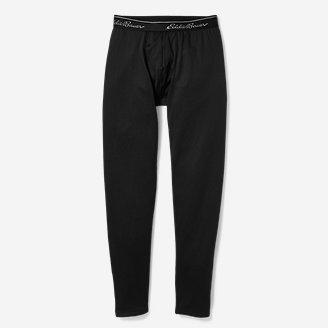 Men's Heavyweight Grid Fleece Baselayer Pants in Black