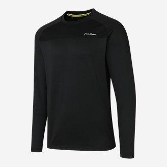 Men's Heavyweight Grid Fleece Crew in Black