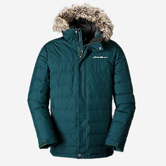 Men's Boundary Pass Down Parka in Green
