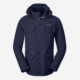 Men's Atlas Stretch Hooded Jacket in Blue