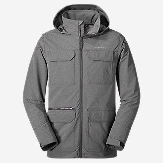 Men's Atlas Stretch Hooded Jacket in Gray