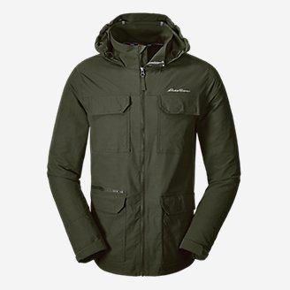 Men's Atlas Stretch Hooded Jacket in Green