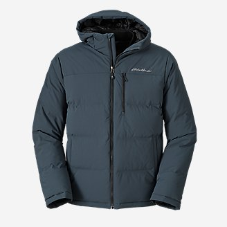 Men's Glacier Peak Seamless Stretch Down Hooded Jacket in Blue