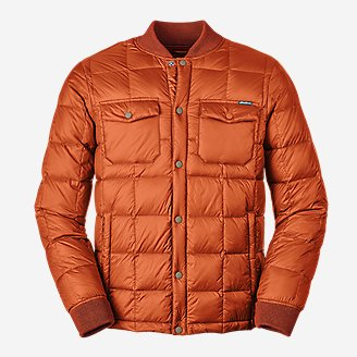 Men's Stratuslite Down Snap Jac in Orange