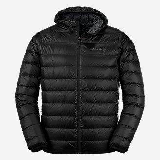 Men's CirrusLite Down Hooded Jacket in Black