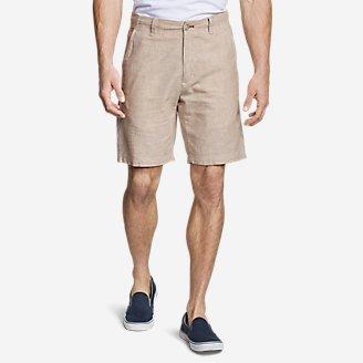 Men's Larrabee 9' Linen-Blend Shorts in White