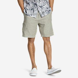 Men's Larrabee 9' Linen-Blend Shorts in Green