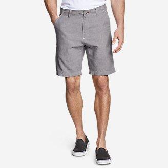 Men's Larrabee 9' Linen-Blend Shorts in Gray