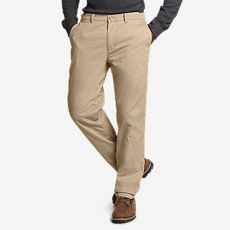 Men's Flex Fleece-Lined Chinos - Slim in Brown