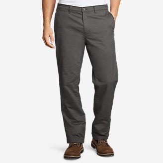Men's Flex Fleece-Lined Chinos - Slim in Gray