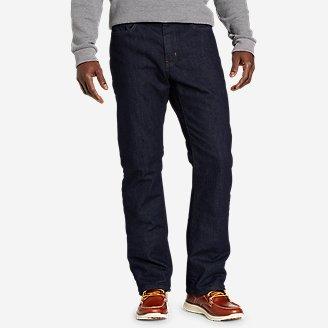 Men's Fleece-Lined Flex Jeans - Straight in Blue