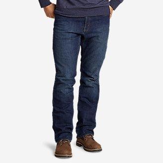 Men's Fleece-Lined Flex Jeans - Straight in Gray