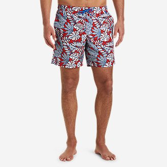 Men's Tidal Shorts in Red