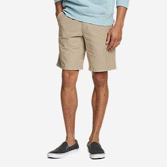 Men's Voyager Flex 10' Chino Shorts in Beige